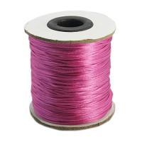 Cordon cola de raton 1 mm, color  rosa ( 1 metro)