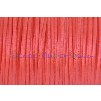 Cordon cola de raton 1 mm, color coral ( 1 metro)