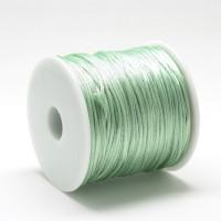 Cordon cola de raton 1 mm, color verde menta (1 metro)