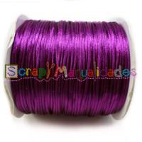 Cordon cola de raton 1 mm, color purpura ( 1 metro)