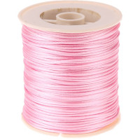 Cordon de saten 1 mm, color rosa claro ( 1 metro)