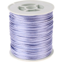 Cordon de saten 1 mm, color lila ( 1 metro)