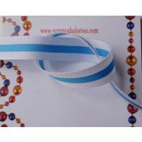 Cinta lazo bandera blanco-azul ancho 12 mm ( 1 metro)