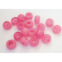 Donut Irregular aguas blancas 15x8,5 mm ROSA Taladro 7 mm