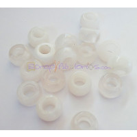 Donut Irregular aguas blancas 15x8,5 mm BLANCO Taladro 7 mm