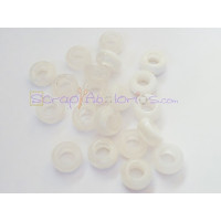 Donut Irregular aguas blancas 10X5 mm BLANCO Taladro 4.5 mm