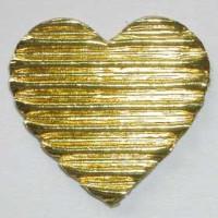 Corazon dorado corrugado 3 cm