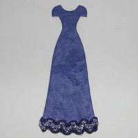 Vestido azul marino 4x7 cm