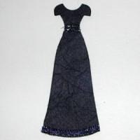 Vestido negro 4x7 cm