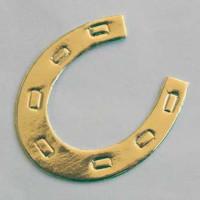 Herradura suerte dorada 37x30 mm ( 3 uds)