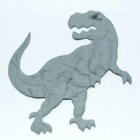 Troquelado papel mulberry Dinosaurio Tyranosaurius Rex