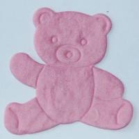 Troquelado de papel - Osito rosa 4.5x4.5 cm