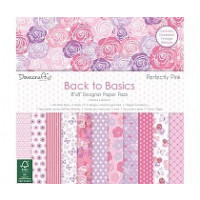 "Lote Papel Scrapbooking 8x 8"" - Perfectly Pink- 48 pgs"