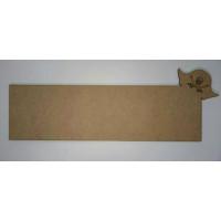 Placa grande de DM-  Modelo Pirata 35x10.2 cm
