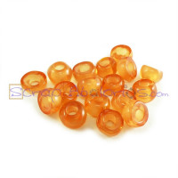 Donut Irregular transparente 7X5 mm NARANJA Taladro 2.5  mm