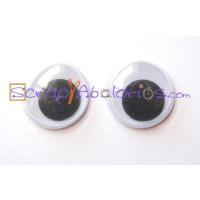 Ojos redondos 15 mm (10 uds)