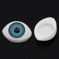 Ojos expresivos color azul 12x8 mm ( 10 uds)