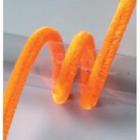 Limpiapipas 50 cm - Grosor 8 mm- Color naranja - 10 uds