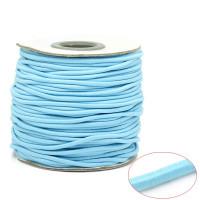 Cordon elástico redondo 2 mm color azul bebe ( 1 metro)