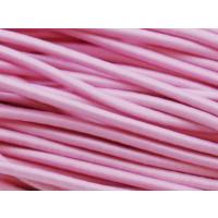 Cordon elástico  redondo 3 mm color  rosa bebe ( 1 metro)
