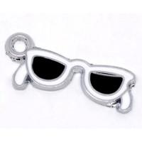 Colgante enamel gafas 30x12 mm