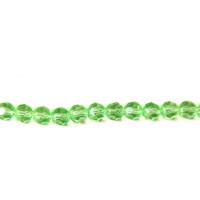Facetada cristal 8 mm color verde hilera 35 cm ( 40 uds)