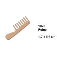 Maderitas- Silueta DM 2.5 mm grueso- Peine 1.7x5.6 cm