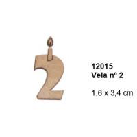 Maderitas- Silueta DM 2.5 mm grueso- Vela nº2 1.6x3.4 cm