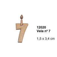 Maderitas- Silueta DM 2.5 mm grueso- Vela nº7 1.5x3.4 cm