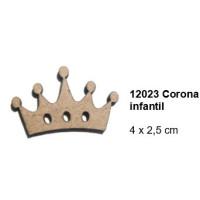 Maderitas- Silueta DM 2.5 mm grueso- Corona Infantil 4x2.5 cm