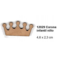 Maderitas- Silueta DM 2.5 mm grueso- Corona infantil 4.6x2.3 cm