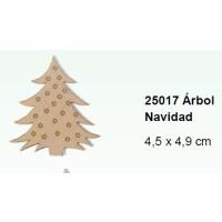 Maderitas- Silueta DM 2.5 mm grueso- Arbol Navidad 4.5x4.9 cm