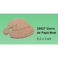 Maderitas- Silueta DM 2.5 mm grueso-  Gorro Noel 5.2x3 cm