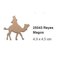 Maderitas- Silueta DM 2.5 mm grueso- Rey Melchor 4.9x4.5cm