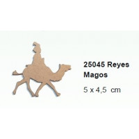 Maderitas- Silueta DM 2.5 mm grueso- Rey Baltasar 5x4.5 cm
