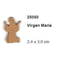 Maderitas- Silueta DM 2.5 mm grueso- Virgen Maria 2.4x3.8cm