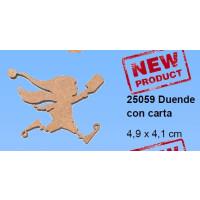 Maderitas- Silueta DM 2.5 mm grueso- Duende con carta