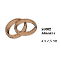 Maderitas- Silueta DM 2.5 mm grueso- Alianzas 4x2.5 cm
