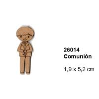 Maderitas- Silueta DM 2.5 mm grueso- Niño Comunion 1.9x5.2 cm