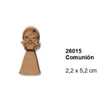Maderitas- Silueta DM 2.5 mm grueso- Niña Comunion 2.2x5.2 cm