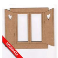Silueta de madera DM- Ventana - 8x10cm