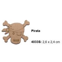 Maderitas- Silueta DM 2.5 mm grueso- Pirata 2.6x2.4 cm