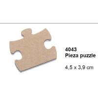 Maderitas- Silueta DM 2.5 mm grueso- Puzzle 4.5x3.9 cm