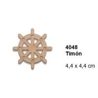 Maderitas- Silueta DM 2.5 mm grueso- Timon 4.4x4.4 cm