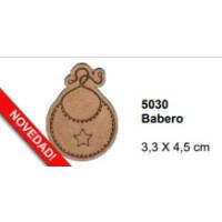 Maderitas- Silueta DM 2.5 mm grueso- Babero 3.3x4.5 cm