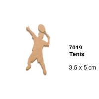 Maderitas- Silueta DM 2.5 mm grueso- Tenis 3.5x5 cm