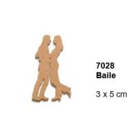 Maderitas- Silueta DM 2.5 mm grueso- Baile 3.x5 cm