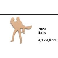 Maderitas- Silueta DM 2.5 mm grueso- Baile 4.3x4.6 cm