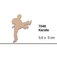 Maderitas- Silueta DM 2.5 mm grueso- Karate 3.6x5 cm
