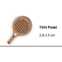 Maderitas- Silueta DM 2.5 mm grueso- Raqueta Padel 2.8x5 cm